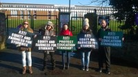 Cathleen at Teachers Strike St Kevins College Glasnevin