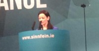 Cathleen speaking on homelessness at Ard Fheis