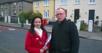Cathleen and Dessie on Walsh Road, Drumcondra