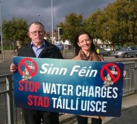 Water Charges Protest Sinn Fein - Dessie Ellis and Cathleen Carney Boud